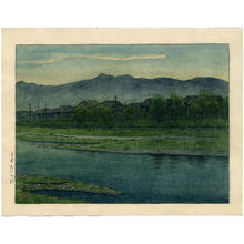 Kawase Hasui: The Banks of the Kano River, Kyoto - Japanese Art Open Database