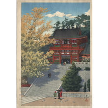 川瀬巴水: Tsuruoka Hachimangu - Japanese Art Open Database