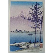 川瀬巴水: Unknown- Fuji and Lake - Japanese Art Open Database