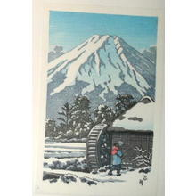 Kawase Hasui: Waterwheel snow — 忍畦 - Japanese Art Open Database