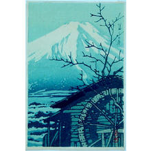 川瀬巴水: Winter Fuji- V1 — 富士の冬 - Japanese Art Open Database