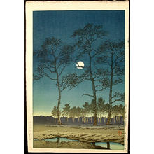 Kawase Hasui: Winter Moon at Toyamagahara — 戸山ヶ原 - Japanese Art Open Database