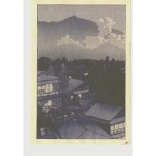 Kawase Hasui: Early evening scene - Japanese Art Open Database