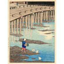 Kawase Hasui: Gion bashi bridge, Asakusa - Japanese Art Open Database