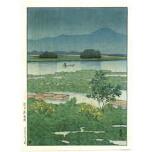 Kawase Hasui: Lake Ezu - Japanese Art Open Database