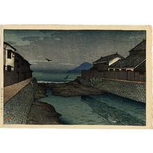 川瀬巴水: Hori River, Obama - Japanese Art Open Database