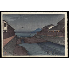 川瀬巴水: Hori River, Obama - Japanese Art Open Database