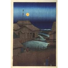 川瀬巴水: Mishima River - Japanese Art Open Database