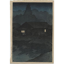 川瀬巴水: Tsuta Hotspring, Mutsu Province - Japanese Art Open Database