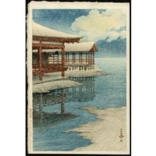 Kawase Hasui: A Fine Winter's Sky, Miyajima - Japanese Art Open Database