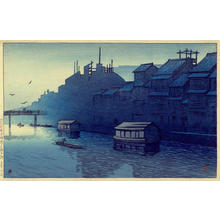 Kawase Hasui: Morning at Dotonbori- Osaka - Japanese Art Open Database