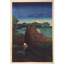 Kawase Hasui: Ogi Harbor, Sado Island - Japanese Art Open Database
