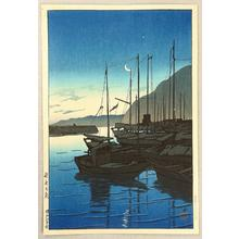川瀬巴水: Beppu in the Morning, Oita - Japanese Art Open Database