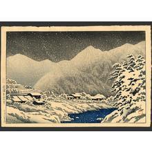 Kawase Hasui: In the Snow, Nakayama-shichiri Road, Hida - Japanese Art Open Database