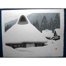 Kawashima Tatsuo: Winter in Miyama - Japanese Art Open Database