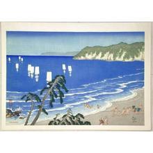 Kawatsura Yoshio: Netting Fish in Summer at Jibiki — 夏の地曳網 - Japanese Art Open Database