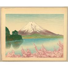Kazue Yamagishi: Mt Fuji and Lake Kawaguchi - Japanese Art Open Database