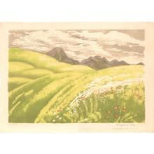 Oda Kazuma: Mt Tateshina in the Tatsugatake Range- Shinshu - Japanese Art Open Database
