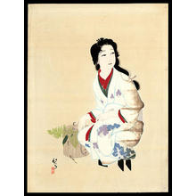 Keigetsu Kikuchi: Kneeling Girl - Japanese Art Open Database