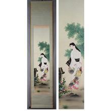 Keishin: A Bijin Drawing Water — 水汲み立ち姿美人図 - Japanese Art Open Database