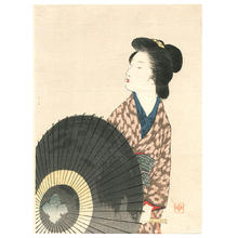 Takeuchi Keishu: Beauty and Umbrella - Japanese Art Open Database