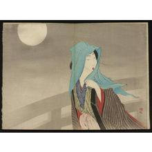 武内桂舟: Beauty in Moonlight — Gekka no Bijin - Japanese Art Open Database