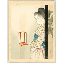 武内桂舟: Bijin Holding Lantern - Japanese Art Open Database