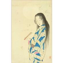 Takeuchi Keishu: Bijin Under the Moon — 月下美人 - Japanese Art Open Database