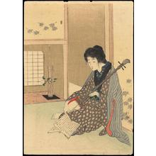 武内桂舟: Bijin and Shamisen - Japanese Art Open Database
