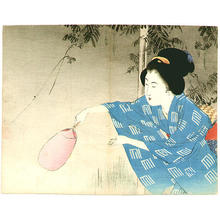 Takeuchi Keishu: Chasing Fireflies - Japanese Art Open Database