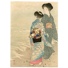 武内桂舟: Hamabe- Seashore - Japanese Art Open Database