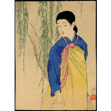 Takeuchi Keishu: Korean beauty — 韓国の美人 - Japanese Art Open Database