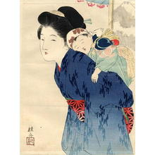 Takeuchi Keishu: Mother with her infant - Japanese Art Open Database