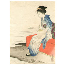 Takeuchi Keishu: On the Shore - Japanese Art Open Database