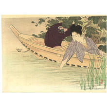 武内桂舟: Pledge at the Pond - Japanese Art Open Database