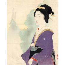 武内桂舟: The Purple Kimono - Japanese Art Open Database
