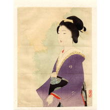 武内桂舟: The Purple Kimono - Japanese Art Open Database