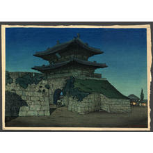 Keith Elizabeth: East Gate Seoul, Moonlight - Japanese Art Open Database