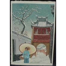 Keith Elizabeth: Unknown- Temple and Snow - Japanese Art Open Database