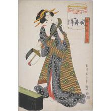 Kikugawa Eizan: Revolving Lantern with Merrymaking Scene — さわきのけしき - Japanese Art Open Database