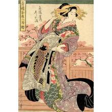 菊川英山: The Carp Lady - Japanese Art Open Database