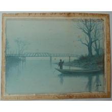 Kiso Y: Boatman on a Misty Morning - Japanese Art Open Database