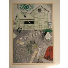 北岡文雄: Kitaguni no Umigo no Koya — 北国の海辺の小屋 - Japanese Art Open Database