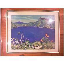 北岡文雄: Unknown, ocean view - Japanese Art Open Database