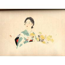 Kaburagi Kiyokata: A Young Woman in Autumn - Japanese Art Open Database