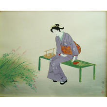 鏑木清方: Autumn Garden — 秋苑 - Japanese Art Open Database