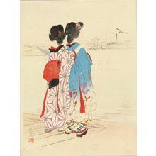 Kaburagi Kiyokata: Bijins Viewing River - Japanese Art Open Database
