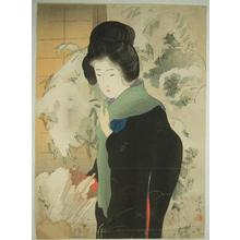 鏑木清方: Light Snow — 小ゆき - Japanese Art Open Database