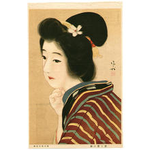 Kaburagi Kiyokata: Lithograph- bijin - Japanese Art Open Database