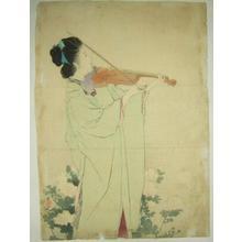 Kaburagi Kiyokata: Morning Dew — あさ露 - Japanese Art Open Database
